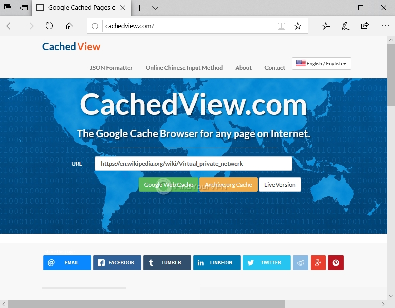 How to unlock websites with Google Cache (step 1)