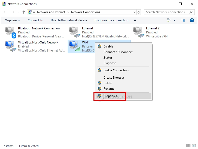 How to set DNS settings in Windows (step 2)