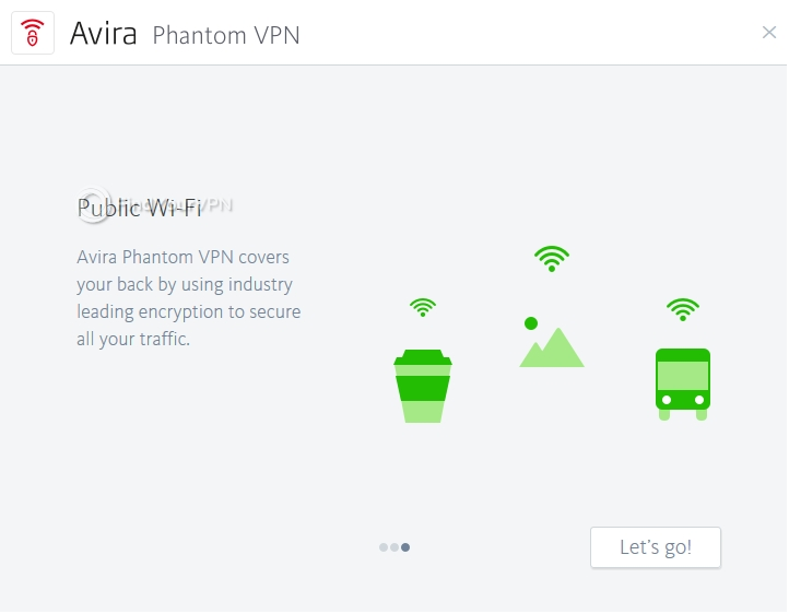Avira Phantom VPN Intro Screen