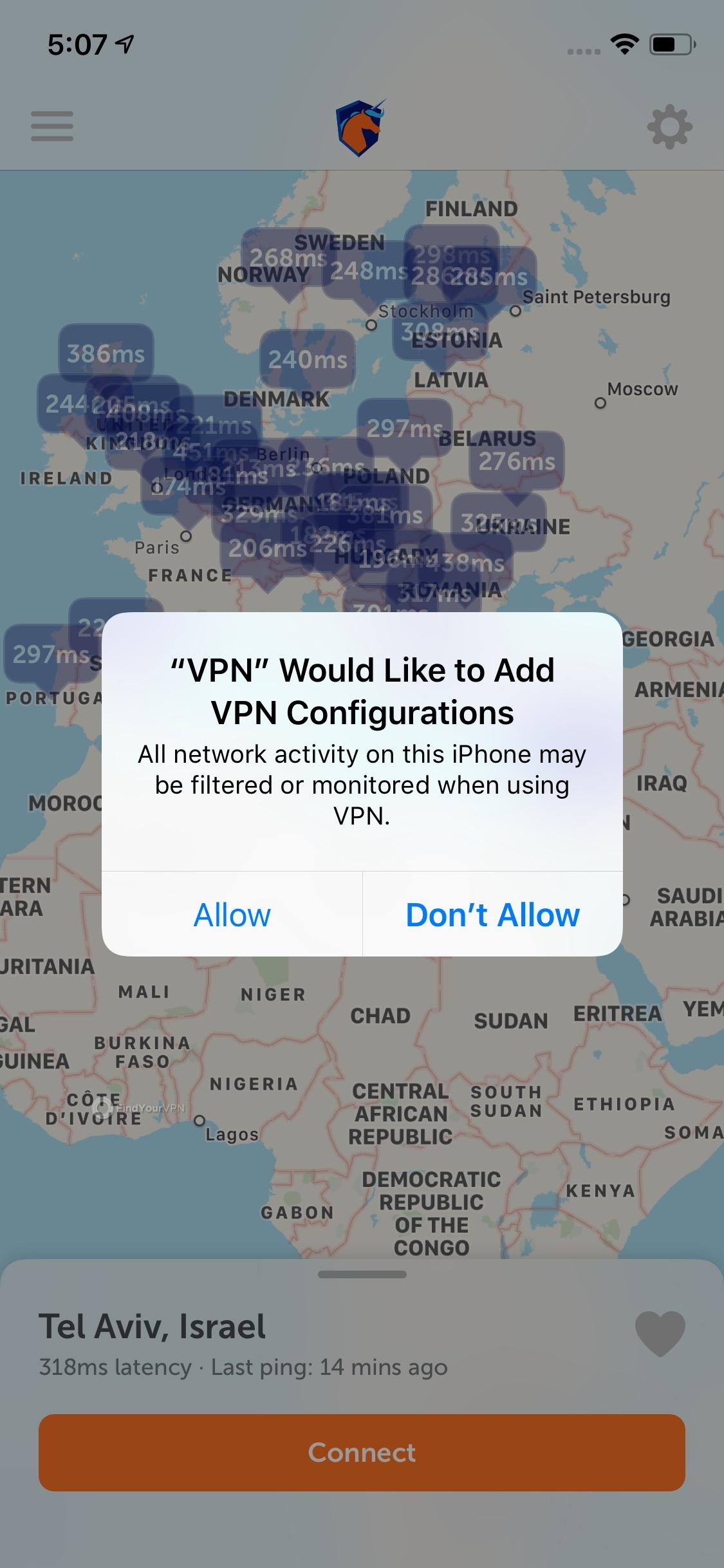 Namecheap iOS app asks you for confirmation