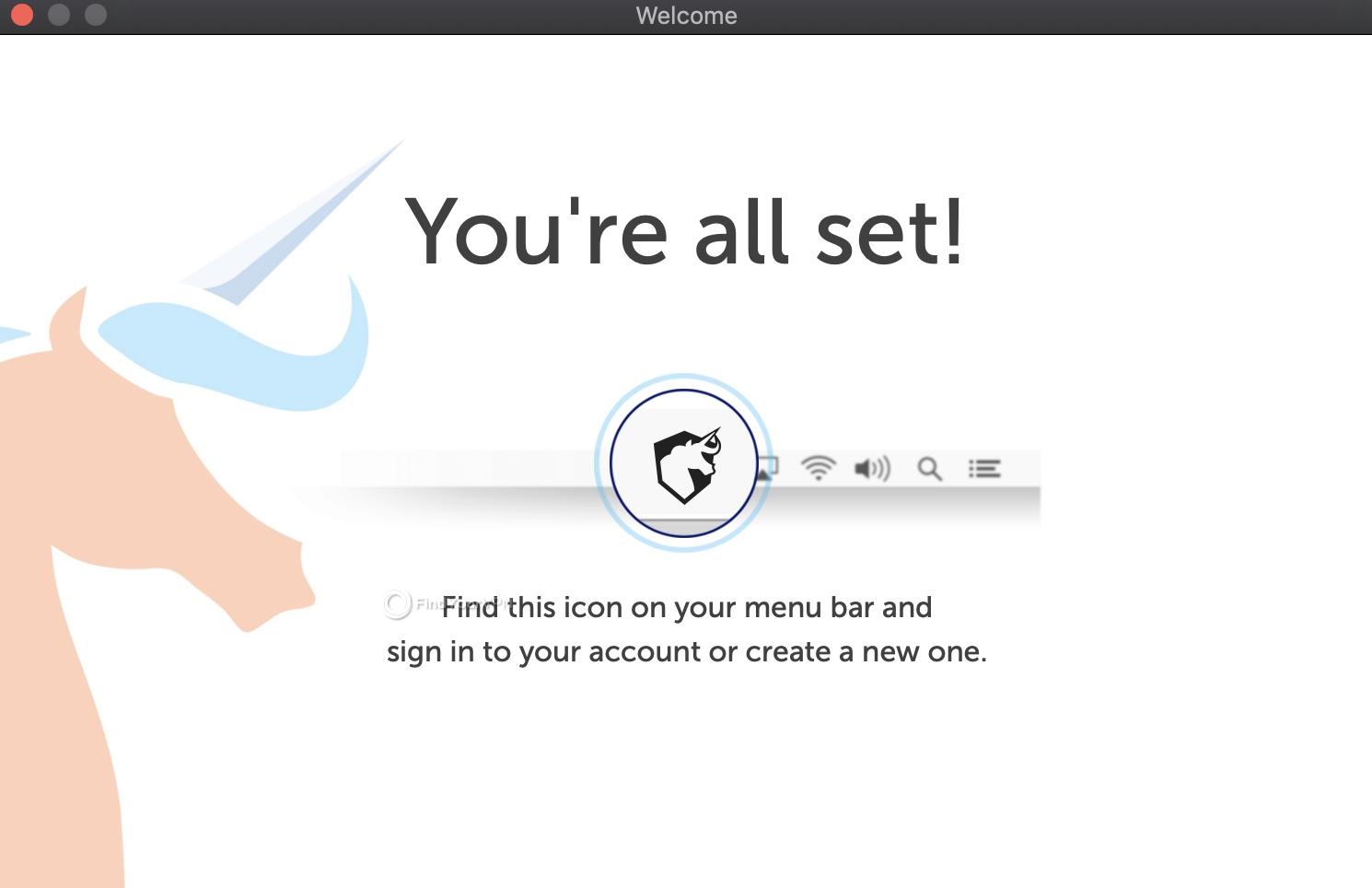 The splash screen of Namecheap macOS app