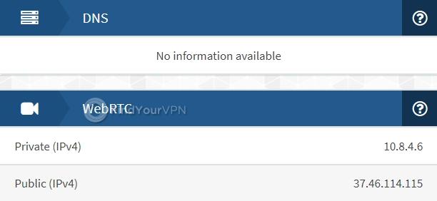 ProtonVPN IPX DNS Test no leaks