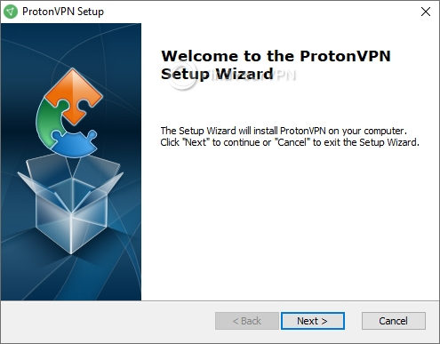 ProtonVPN Setup screen