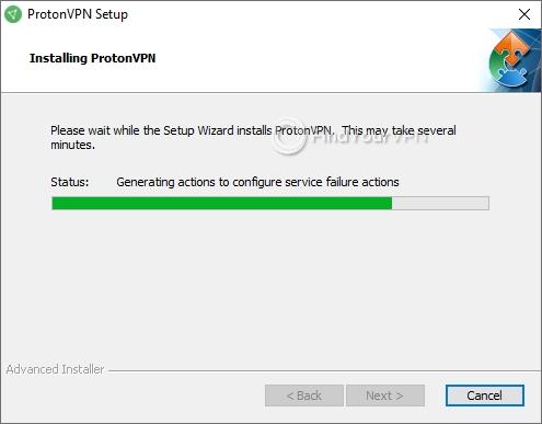ProtonVPN Setup Progress