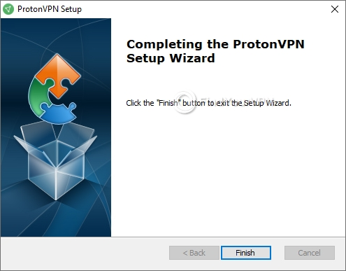 ProtonVPN Setup Finished