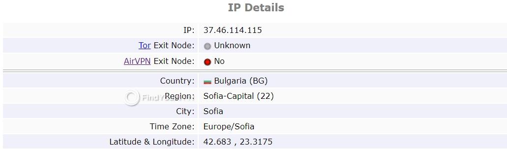 ProtonVPN ipleak IP test no leak