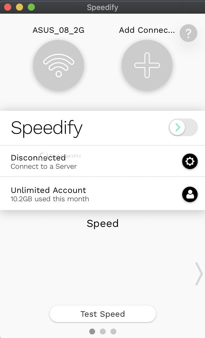 Speedify Mac Interface 1