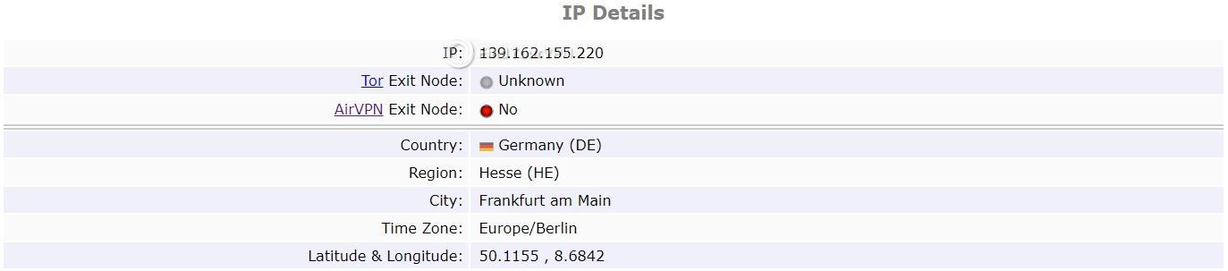Speedify ipleak IP test 2