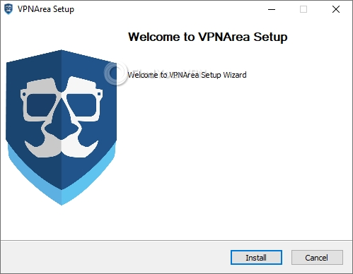 VPNArea Setup main screen