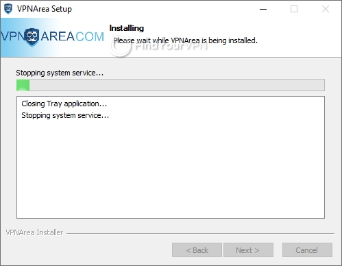 VPNArea Setup details
