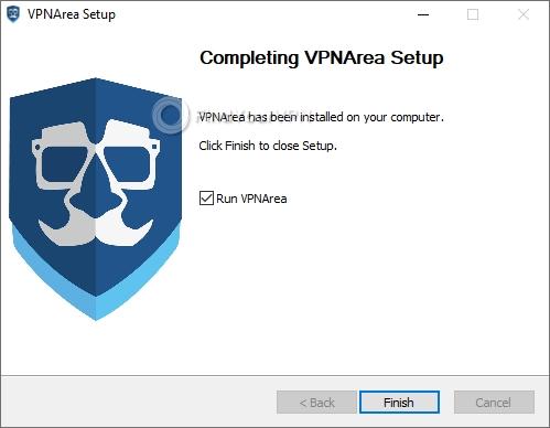 VPNArea Setup Finish