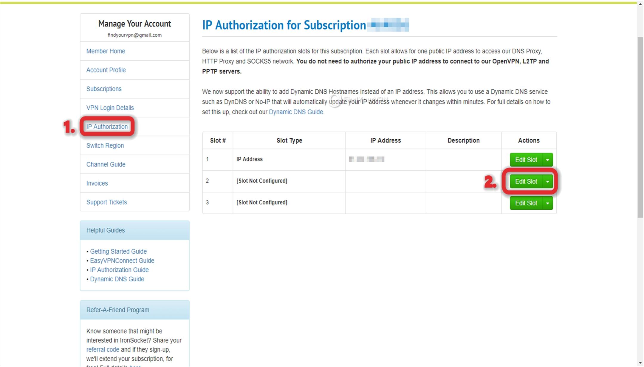 IronSocket IP Whitelisting Dashboard