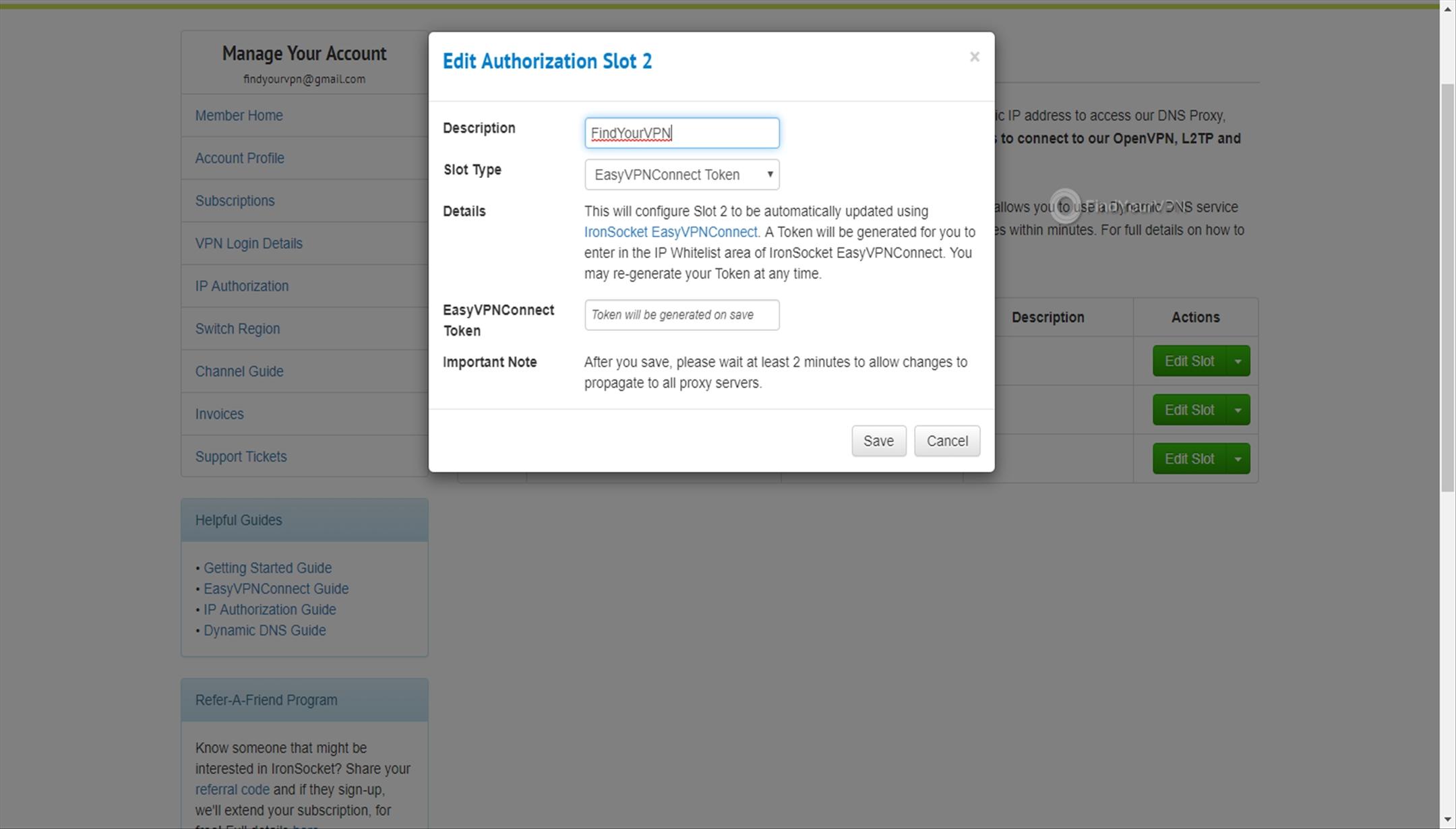 IronSocket IP Whitelisting save slot