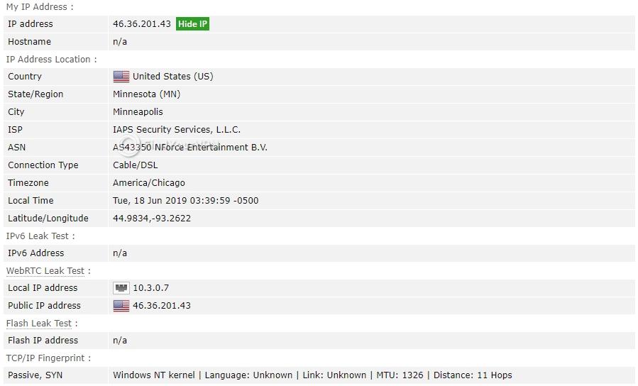 Smart DNS Proxy BrowserLeaks IP Test