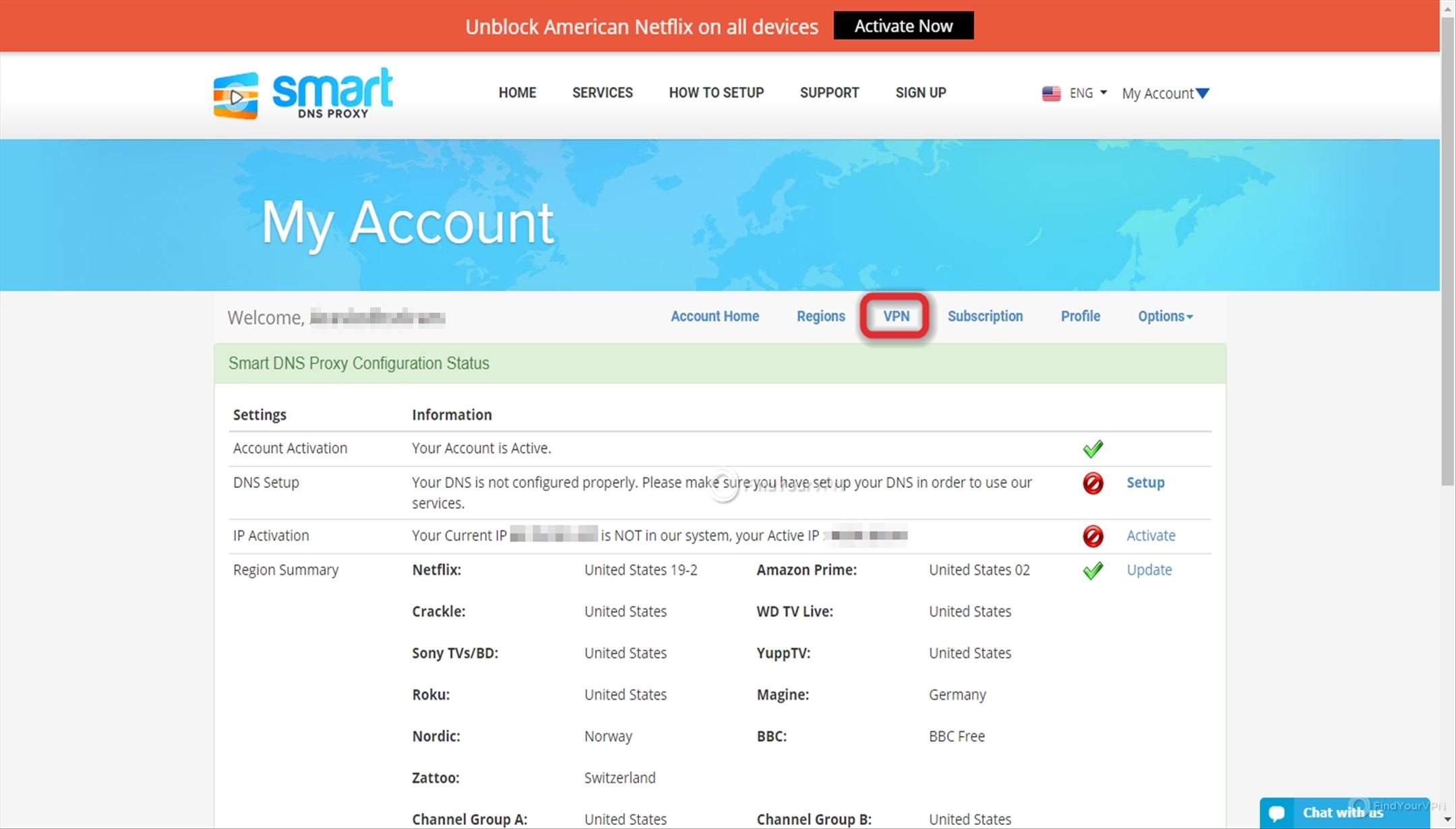 Smart DNS Proxy Download VPN Dashboard