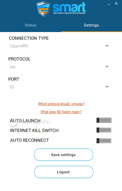 Smart DNS Proxy Settings