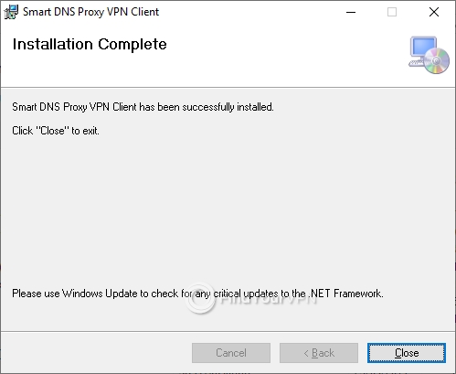 Smart DNS Proxy Setup Finish