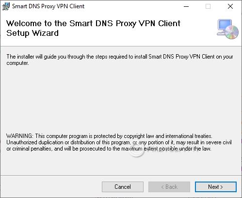 Smart DNS Proxy Setup Initial