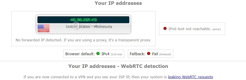 Smart DNS Proxy ipleak IP Test