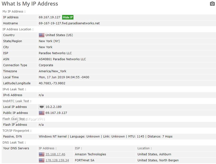 VyprVPN BrowserLeaks test no leak