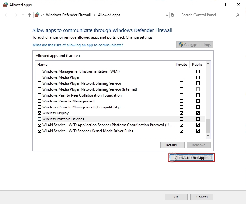 How to add an exception to the Windows Firewall (step 3)