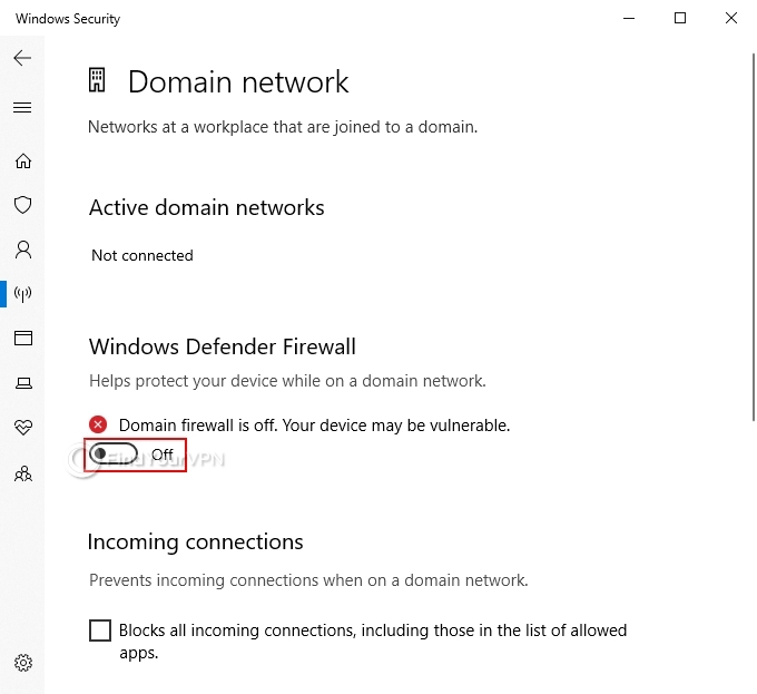 How to disable Windows Firewall (step 2)