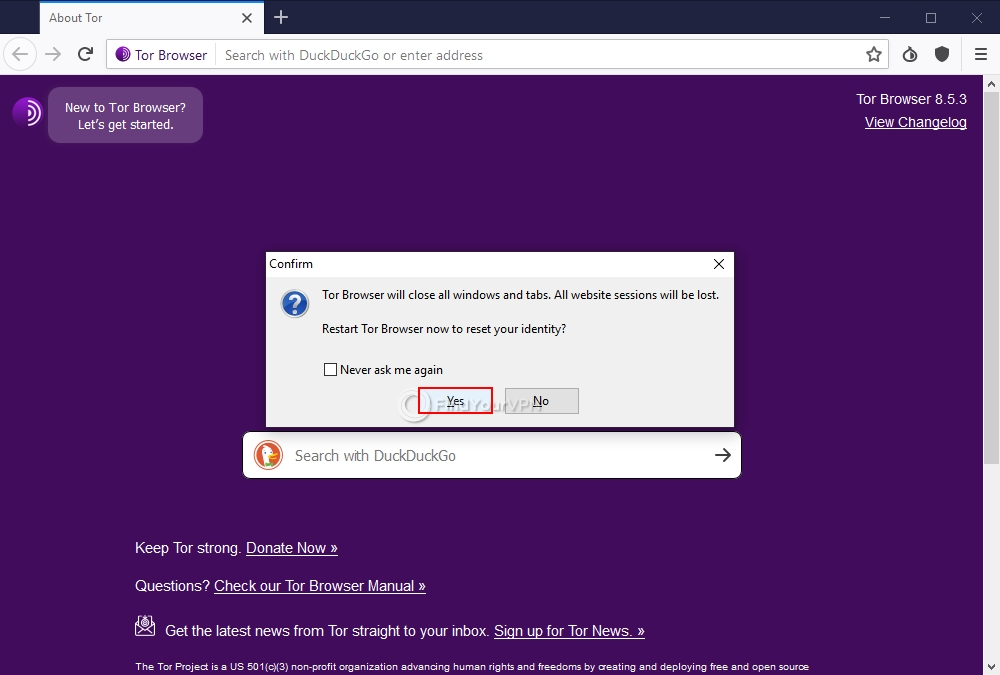 How to increase your security with Tor Browser (step 4)