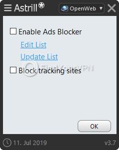 Astrill Extra Ad blocker