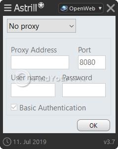 Astrill Settings proxy