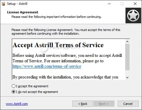 Astrill Setup Agreement