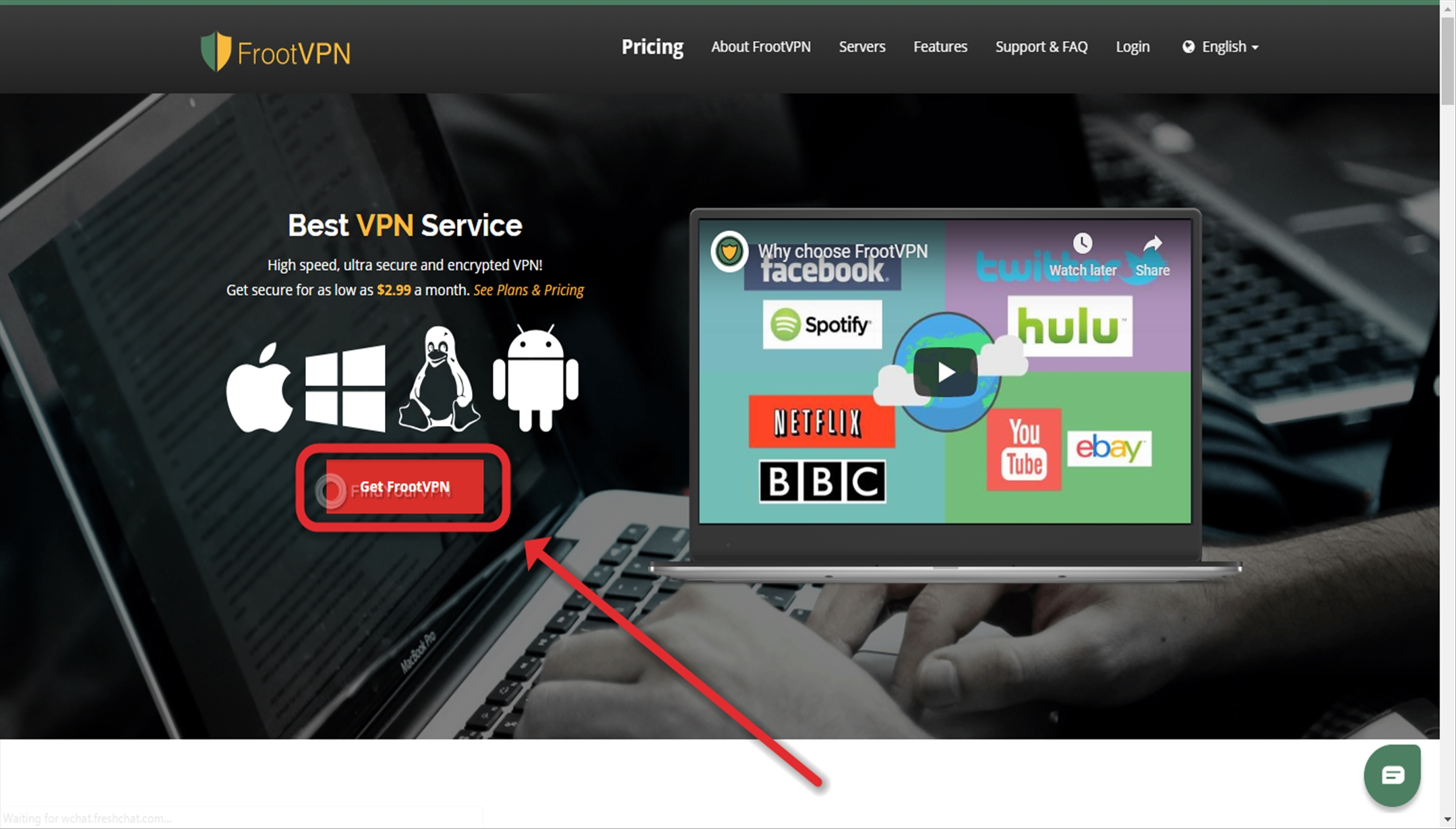 FrootVPN Creating Account Get Started