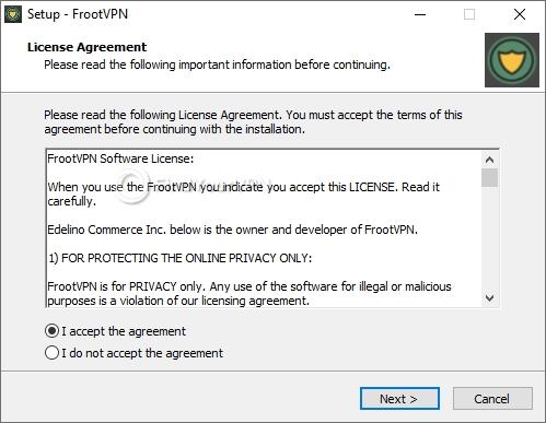 FrootVPN Setup Agreement