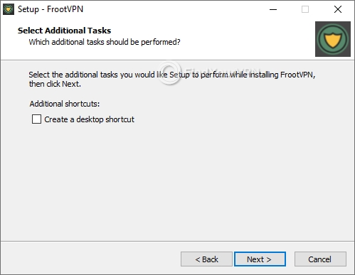 FrootVPN Setup Desktop Shortcut