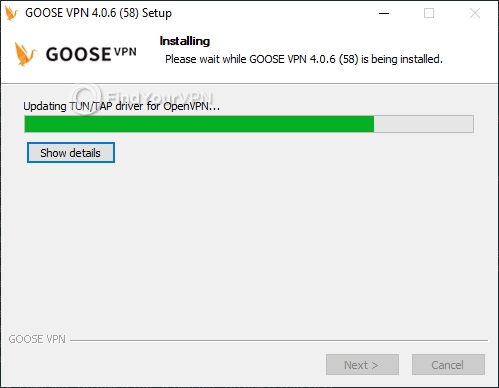 GOOSE VPN Setup progress
