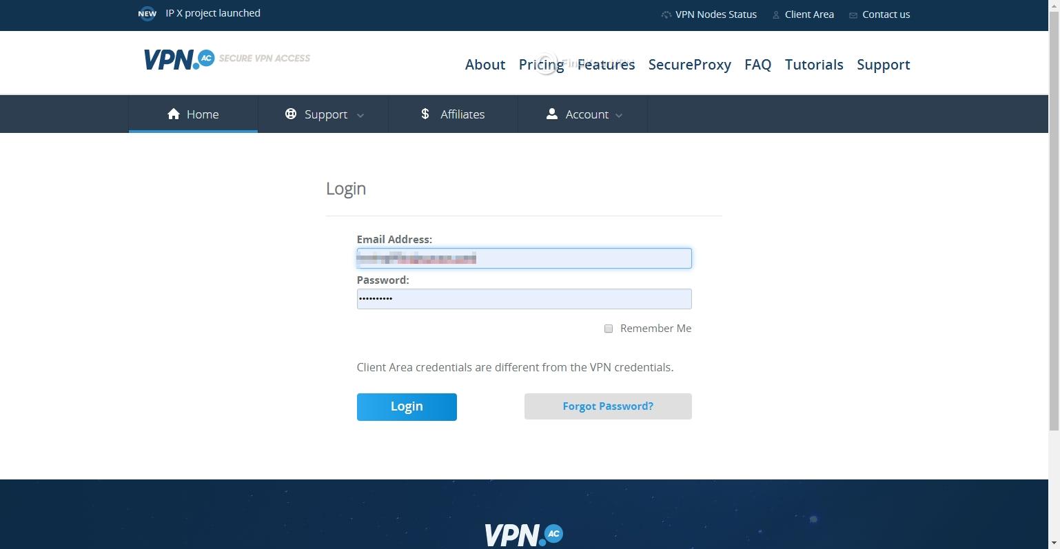VPN.AC Download Login