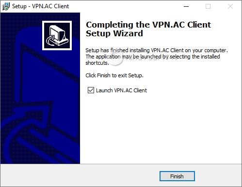 VPN.AC Setup Finish