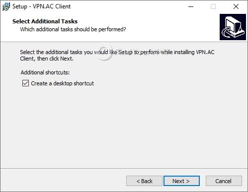 VPN.AC Setup Shortcut