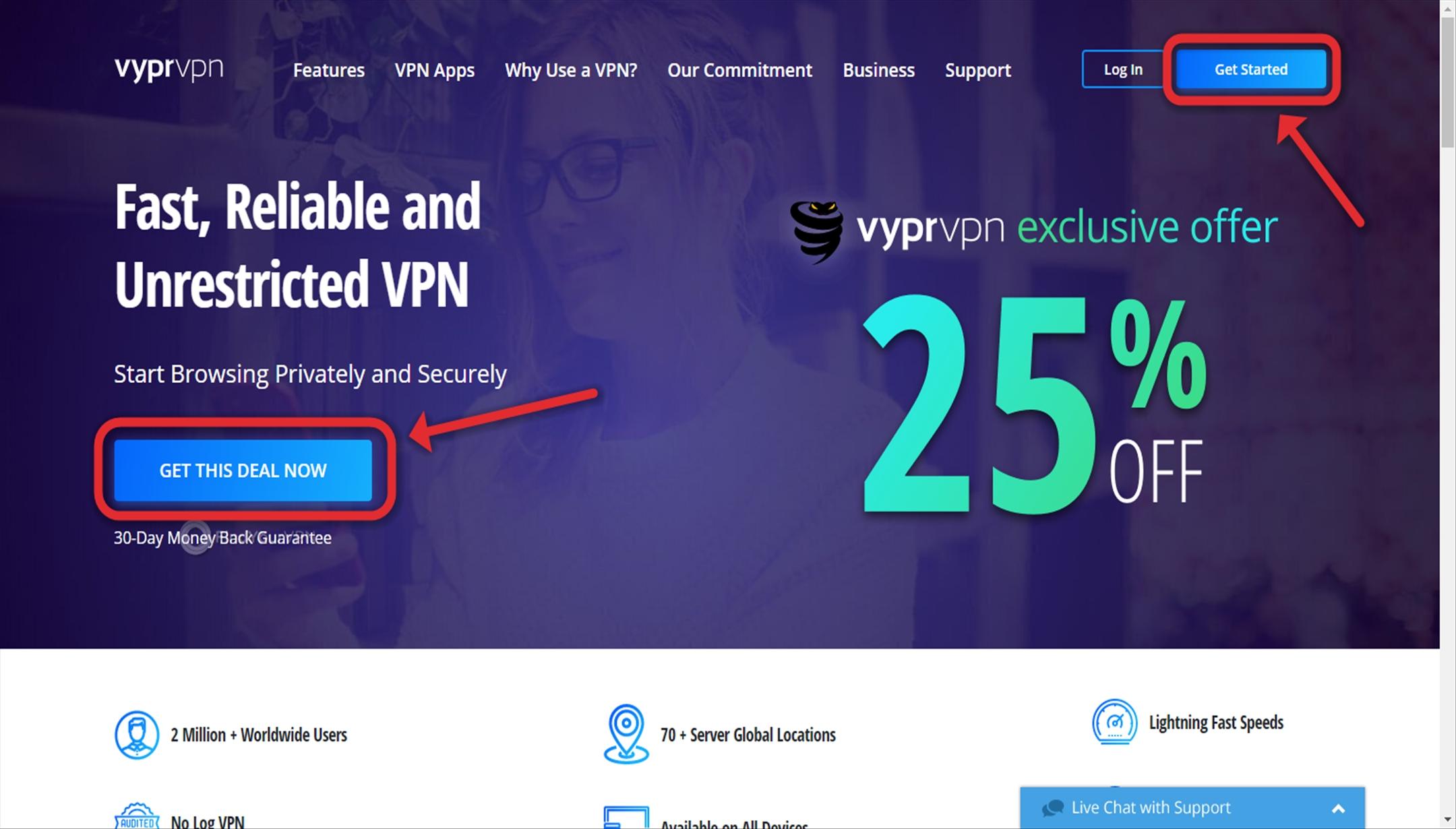 VyprVPN Creating account Get Started