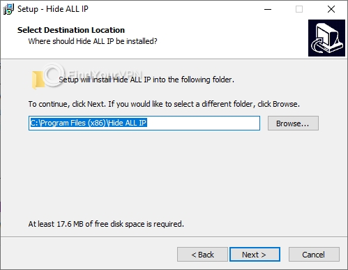 Choose where to install Hide ALL IP