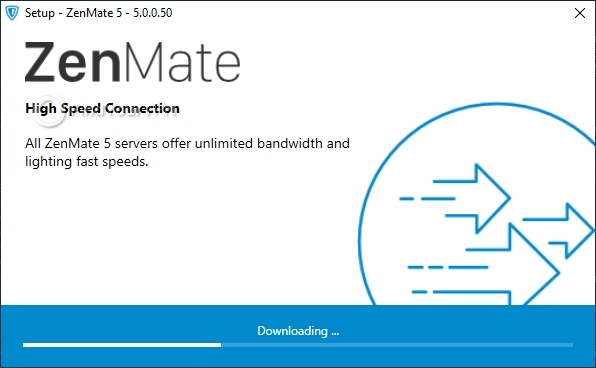 The ZenMate VPN setup needs to downloads some files