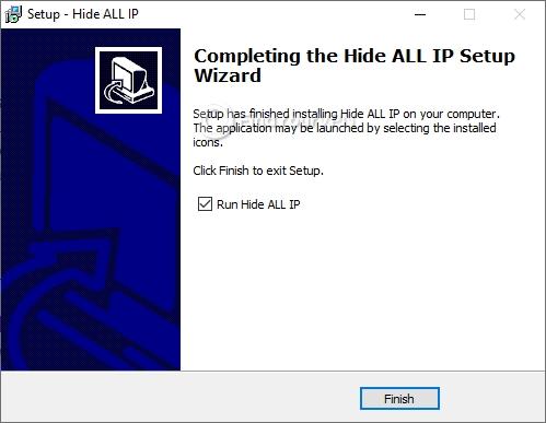 Hide ALL IP's final installation screen