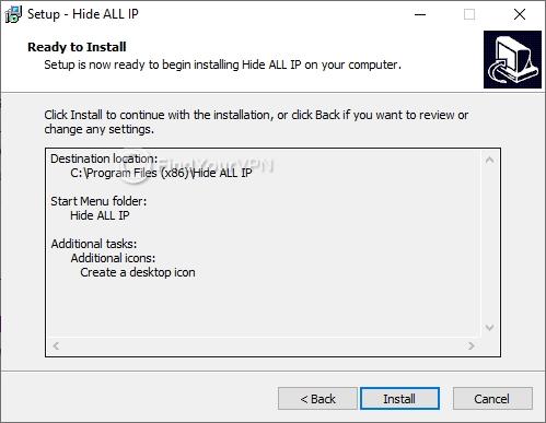 Hide ALL IP installation confirmation screen