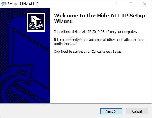 Hide ALL IP's initial setup screen