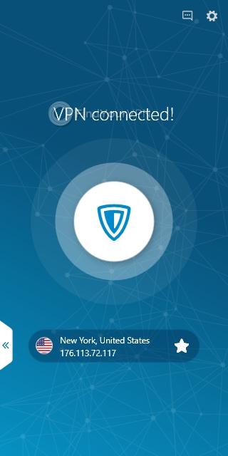 ZenMate VPN's main window after connecting