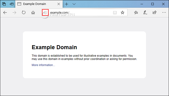 An HTTP website example in Microsoft Edge