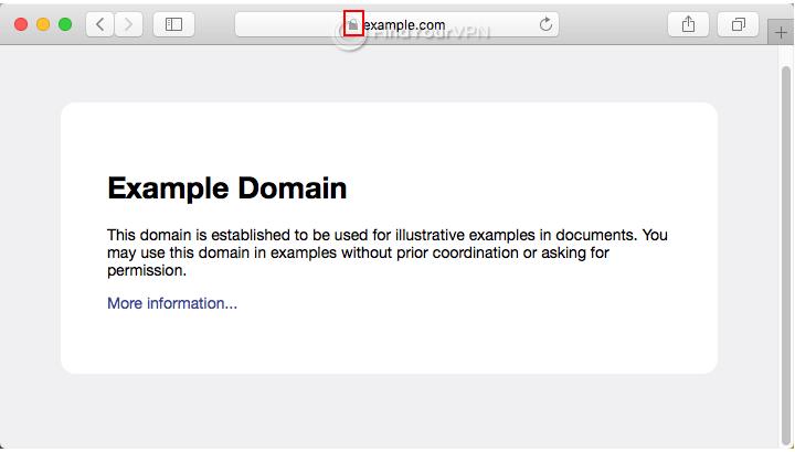 An HTTPS website example in Safari