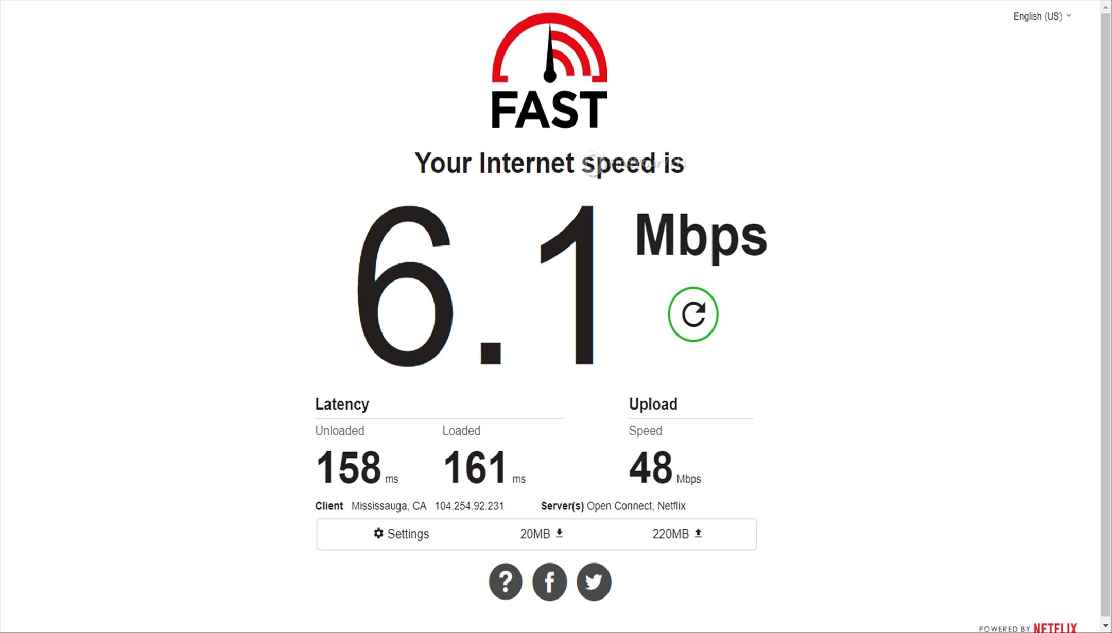 BTGuard's Canada server speed