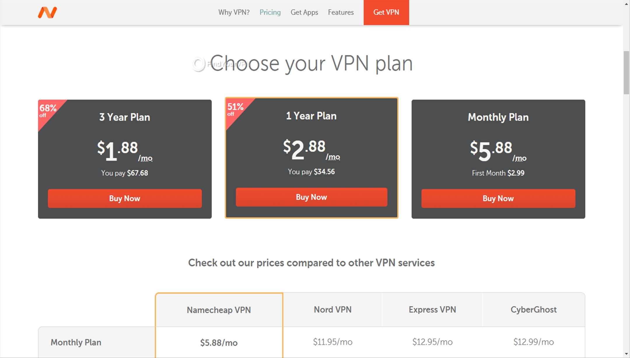 You can choose from various subscription plans for Namecheap VPN