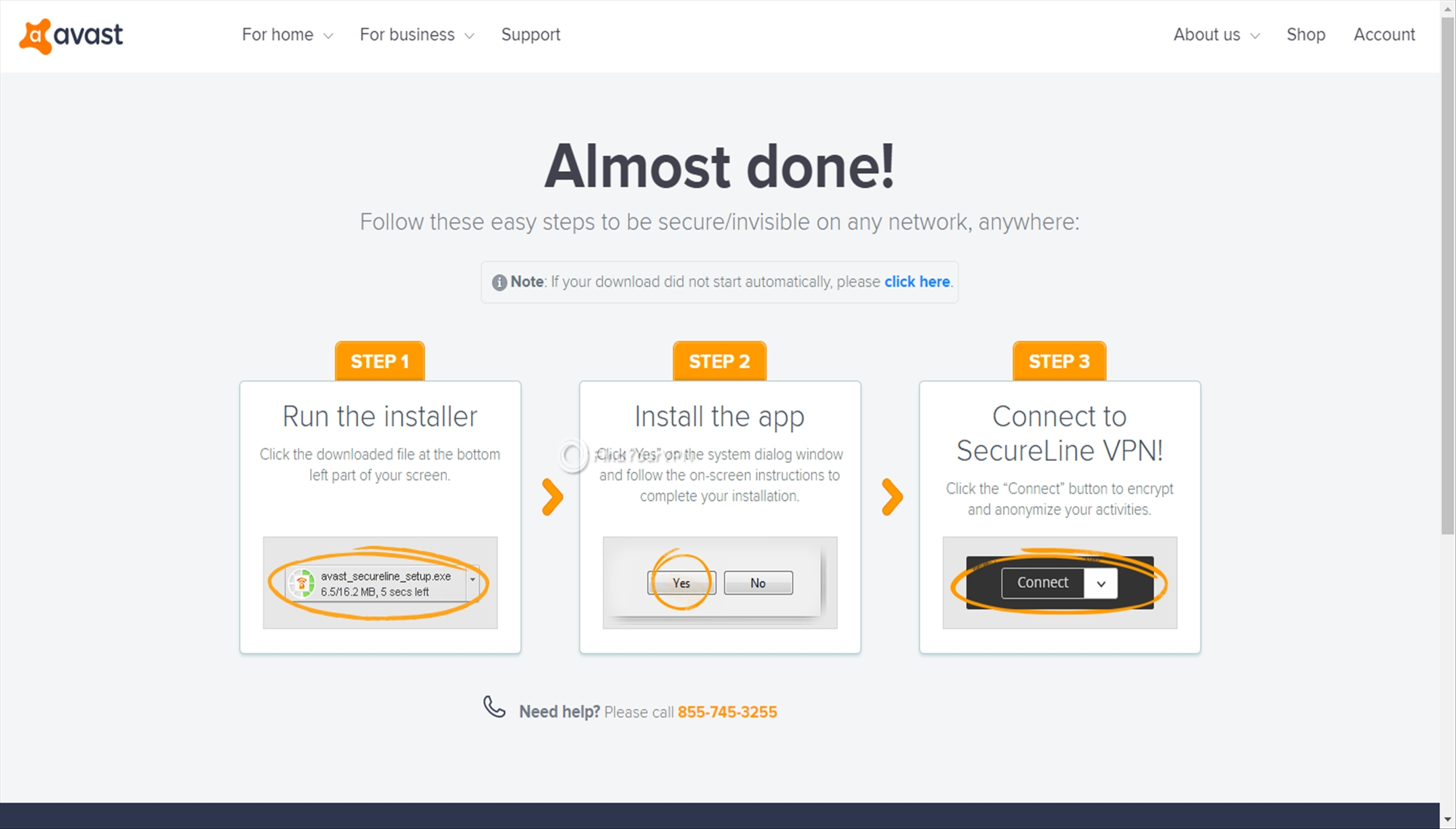 Download the Avast SecureLine VPN app