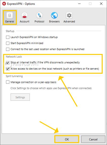 ExpressVPN for Windows showcases the Network Lock